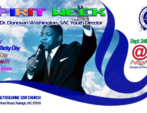 Holy Spirit Week –  Youth Week of Prayer